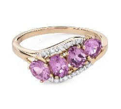 """Помолвочное кольцо с драгоценными камнями """"Сапфир 43"""""""