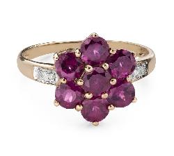 """Помолвочное кольцо с драгоценными камнями """"Краски 106"""""""