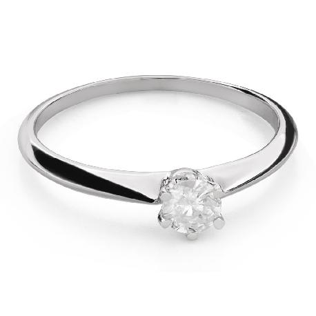 """Помолвочное кольцо с Бриллиантом """"Королева 107"""""""