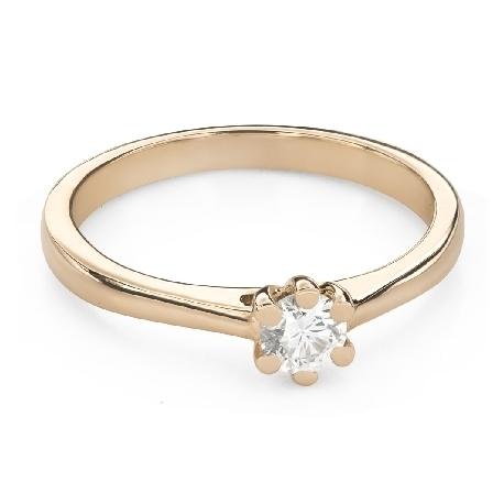 """Помолвочное кольцо с Бриллиантом """"Королева 109"""""""