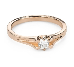 """Помолвочное кольцо с Бриллиантом """"Единственная 151"""""""
