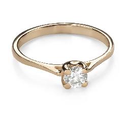 """Помолвочное кольцо с Бриллиантом """"Богиня 243"""""""