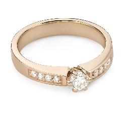 """Помолвочное кольцо с Бриллиантами """"Грациозность 148"""""""