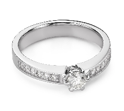"""Помолвочное кольцо с Бриллиантами """"Грациозность 151"""""""