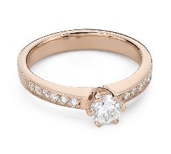 """Помолвочное кольцо с Бриллиантами """"Грациозность 154"""""""