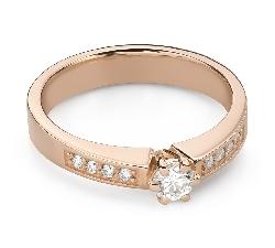 """Помолвочное кольцо с Бриллиантами """"Грациозность 152"""""""