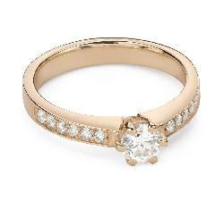 """Помолвочное кольцо с Бриллиантами """"Грациозность 155"""""""
