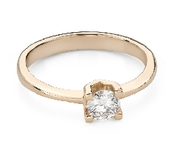 """Помолвочное кольцо с Бриллиантом """"Прочность 155"""""""