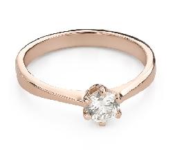 """Помолвочное кольцо с Бриллиантом """"Королева 117"""""""