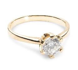 """Помолвочное кольцо с Бриллиантом """"Незабываемый 28"""""""