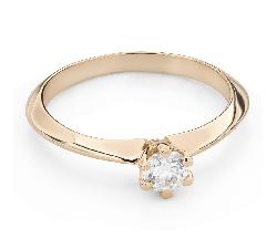 """Помолвочное кольцо с Бриллиантом """"Королева 123"""""""