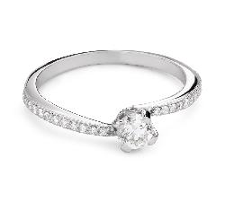 """Saderināšanās gredzens ar Briljantu """"Mīlestības apskāvienos 68"""""""