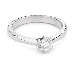 """Помолвочное кольцо с Бриллиантом """"Королева 124"""""""