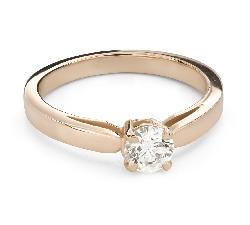 """Помолвочное кольцо с Бриллиантом """"Богиня 256"""""""