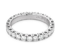 """Золотое кольцо с Бриллиантами """"Алмазная полоска 58"""""""