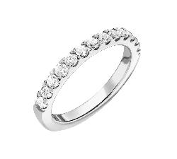 """Золотое кольцо с Бриллиантами """"Алмазная полоска 59"""""""