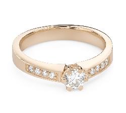 """Помолвочное кольцо с Бриллиантами """"Грациозность 164"""""""
