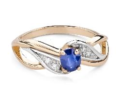 """Помолвочное кольцо с драгоценными камнями """"Сапфир 45"""""""