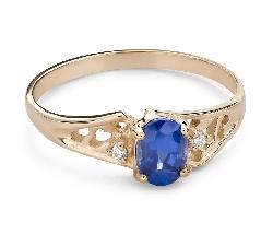 """Помолвочное кольцо с драгоценными камнями """"Сапфир 46"""""""