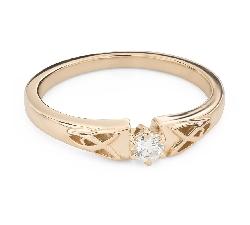 """Помолвочное кольцо с Бриллиантом """"Единственная 166"""""""