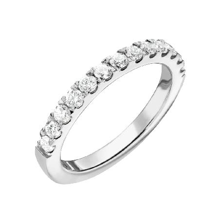 """Золотое кольцо с Бриллиантами """"Алмазная полоска 60"""""""