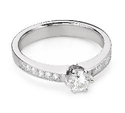 """Помолвочное кольцо с Бриллиантом """"Грациозность 166"""""""