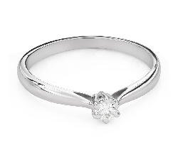 """Saderināšanās gredzens ar Dimantu """"Karaļmeita 128"""""""