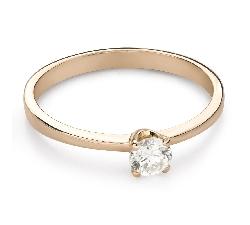 """Помолвочное кольцо с Бриллиантом """"Чистая 62"""""""