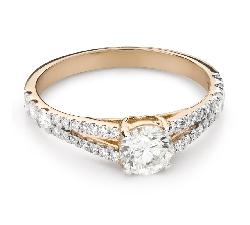 """Помолвочное кольцо с Бриллиантом """"Грациозность 169"""""""