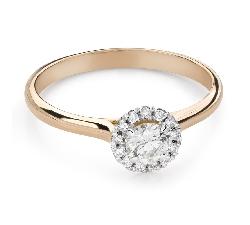 """Помолвочное кольцо с Бриллиантами """"Бриллиантовый цветок 52"""""""