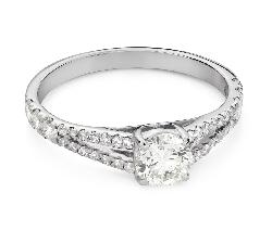 """Помолвочное кольцо с Бриллиантом """"Объятная 34"""""""