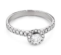 """Помолвочное кольцо с Бриллиантом """"Бриллиантовый цветок 53"""""""