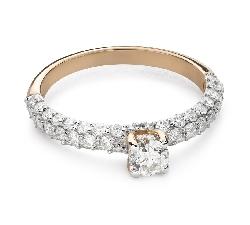 """Помолвочное кольцо с Бриллиантами """"Грациозность 173"""""""
