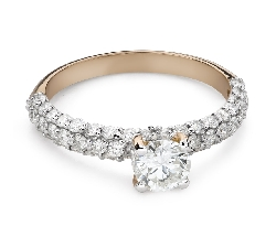 """Помолвочное кольцо с Бриллиантами """"Грациозность 174"""""""
