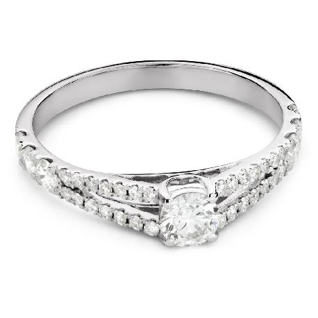 """Помолвочное кольцо с Бриллиантом """"Объятная 35"""""""