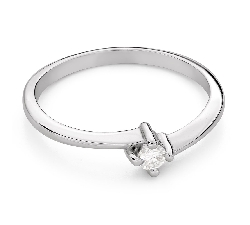 """Помолвочное кольцо с Бриллиантом """"В объятиях любви 73"""""""