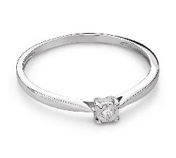 """Помолвочное кольцо с Бриллиантом """"Возлюбленный 153"""""""