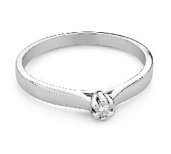 """Saderināšanās gredzens ar Dimantu """"Karaļmeita 130"""""""