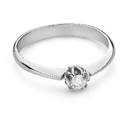 """Помолвочное кольцо с Бриллиантом """"Единственная 168"""""""