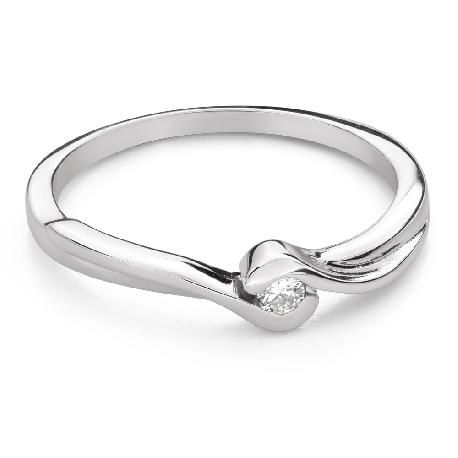 """Saderināšanās gredzens ar Briljantu """"Mīlestības apskāvienos 74"""""""