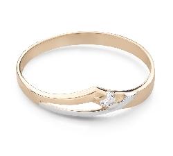 """Saderināšanās gredzens ar Briljantu """"Mīlestības apskāvienos 75"""""""