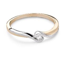 """Saderināšanās gredzens ar Briljantu """"Mīlestības apskāvienos 76"""""""