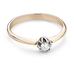 """Помолвочное кольцо с Бриллиантом """"Единственная 169"""""""