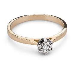 """Помолвочное кольцо с Бриллиантом """"Возлюбленный 155"""""""