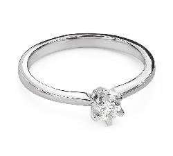 """Помолвочное кольцо с Бриллиантом """"Королева 132"""""""