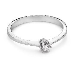 """Помолвочное кольцо с Бриллиантом """"Королева 133"""""""