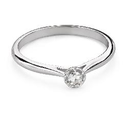 """Помолвочное кольцо с Бриллиантом """"Цветок 12"""""""