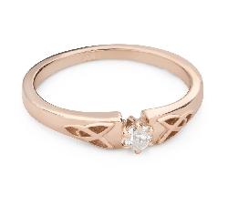 """Помолвочное кольцо с Бриллиантом """"Единственная 172"""""""