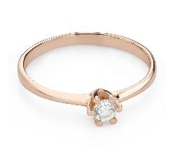 """Помолвочное кольцо с Бриллиантом """"Королева 136"""""""
