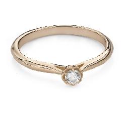 """Помолвочное кольцо с Бриллиантом """"Цветок 16"""""""
